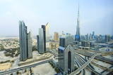 Burj Khalifa and City Skyline, Downtown, Dubai, United Arab Emirates, Middle East Photographic Print by Amanda Hall