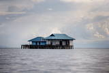 A House over the Ocean, Togian Islands, Sulawesi, Indonesia, Southeast Asia, Asia Photographic Print by James Morgan