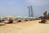 Burj Al Arab and Jumeirah Beach, Dubai, United Arab Emirates, Middle East Photographic Print by Amanda Hall