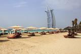 Burj Al Arab and Jumeirah Beach, Dubai, United Arab Emirates, Middle East Photographic Print by Amanda Hall
