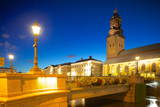 Bridge and Church at Night, Gothenburg, Sweden, Scandinavia, Europe Photographic Print by Frank Fell