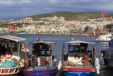Fishing Boats in Kusadasi, Aydin Province, Anatolia, Turkey, Asia Minor, Eurasia Stampa fotografica di Cummins, Richard