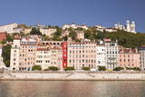 Buildings of Old Lyon and the River Saone, Lyon, Rhone, Rhone-Alpes, France, Europe Photographic Print by Julian Elliott
