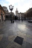 A Square in Central Valencia, Valencia, Spain, Europe Photographic Print by David Pickford