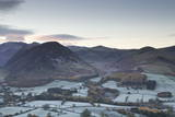 A Frosty Morning over Loweswater Fell in the Lake District National Park Photographic Print by Julian Elliott