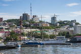 View over the Harbour of Vladivostok, Russia, Eurasia Photographic Print by Michael Runkel