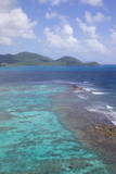View over South Coast and Coral Reef Photographic Print by Frank Fell