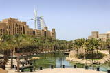Madinat Jumeirah Hotel and Burj Al Arab, Dubai, United Arab Emirates, Middle East Photographic Print by Amanda Hall