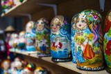 Russian Dolls for Sale as Souvenirs in Kiev (Kyiv), Ukraine, Europe Photographic Print by Michael Runkel
