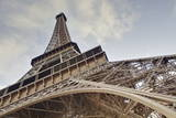 The Eiffel Tower Towers Overhead, Paris, France, Europe Photographic Print by Julian Elliott