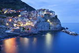 The Cinque Terre Village of Manarola at Dusk Photographic Print by Mark Sunderland