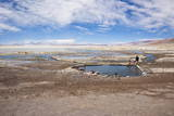 Overview Shot of Tourists Soaking in the Laguna Polques Hot Springs Photographic Print by Kim Walker
