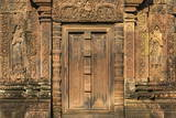 Bas-Relief at Banteay Srei Temple in Angkor Photographic Print by Michael Nolan