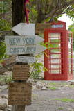 Red Telephone Box and Signs at Mama Pasta'S Photographic Print by Frank Fell