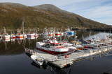 Fishing Boats on a Pontoon, Torsvaag, N Norway Photographic Print by David Lomax
