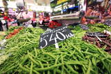 Vegetables on Sale at the Covered Market in Central Valencia, Spain, Europe Photographic Print by David Pickford