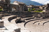 Roman Theater (Teatro Romano), Aosta, Aosta Valley, Italian Alps, Italy, Europe Photographic Print by Nico Tondini