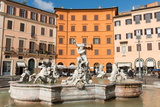 Fountain of Neptune, Piazza Navona, Rome, Lazio, Italy, Europe Photographic Print by Carlo Morucchio