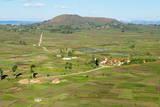 Traditional Village on Hill around Antsirabe, Madagascar, Africa Photographic Print by Bruno Morandi