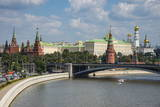The Moskva River (Moscow River) and the Kremlin Photographic Print by Michael Runkel