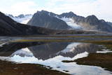 Mountains and Reflections at Magdelenefjord, Svalbard Photographic Print by David Lomax