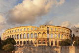 Roman Amphitheatre at Sunset, Pula, Istria, Croatia, Europe Photographic Print by Markus Lange