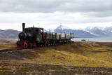 Coal Trucks and Locomotive Preserved as a Monument at Ny Alesund Photographic Print by David Lomax
