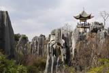 Limestone Pinnacles in Shilin, Stone Forest, at Lunan, Yunnan, China, Asia Photographic Print by Bruno Morandi
