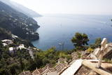 View over the Costiera Amalfitana from Positano Cemetery Photographic Print by Oliviero Olivieri