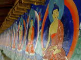 Buddhist Wall Paintings at Tashilhunpo (Tashilunpo) Monastery Photographic Print by Simon Montgomery