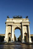 The Arch of Peace (Arco Della Pace), at Sempione Park, Milan, Lombardy, Italy, Europe Photographic Print by Yadid Levy