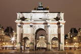 Illuminated Arc De Triomphe Du Carousel and Louvre Museum Photographic Print by Markus Lange