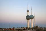Kuwait Towers at Dawn, Kuwait City, Kuwait, Middle East Photographic Print by Jane Sweeney