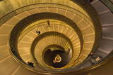 Spiral Stairs of the Vatican Museums, Designed by Giuseppe Momo in 1932, Rome, Lazio, Italy, Europe Photographic Print by Carlo Morucchio