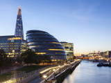 London Skyline at Dusk Including the Glc Building Photographic Print by Charlie Harding