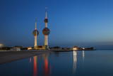 Kuwait Towers at Dawn, Kuwait City, Kuwait, Middle East Photographic Print by Jane Sweeney