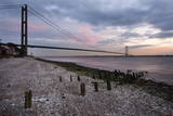 The Humber Bridge at Dusk, East Riding of Yorkshire, Yorkshire, England, United Kingdom, Europe Photographic Print by Mark Sunderland