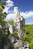 Lichtenstein Castle in Spring, Swabian Alb, Baden Wurttemberg, Germany, Europe Photographic Print by Markus Lange