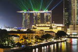 Marina Bay Sands Hotel and Fullerton Hotel, Singapore, Southeast Asia, Asia Photographic Print by Christian Kober