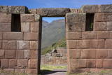 Inca Ruins in the Sacred Valley, Pissac, Peru, South America Photographic Print by Peter Groenendijk