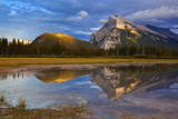 Mount Rundle Rising Above Vermillion Lakes Drive at Sunset Photographic Print by Neale Clark