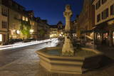 Fountain in the Old Town of Meersburg Photographic Print by Markus Lange