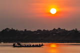 Sunset at Kampong Cham Photographic Print by Michael Nolan