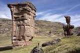 Rock Formations in the Tinajani Canyon in the Andes Photographic Print by Peter Groenendijk