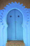 Traditional Blue Painted Door, Chefchaouen, Morocco, North Africa, Africa Photographic Print by Neil Farrin
