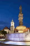 Old Town Hall and Roland's Fountain in Hlavne Nam (Main Square) at Dusk Photographic Print by Ian Trower