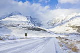 The Icefields Parkway Road Highway Covered in Ice at the Icefields Centre Photographic Print by Neale Clark