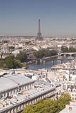 Looking over the Rooftops of Paris to the Eiffel Tower, Paris, France, Europe Photographic Print by Julian Elliott