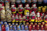Traditional Russian Dolls on Sale, St. Petersburg, Russia, Europe Photographic Print by Peter Barritt