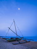 Traditional Outrigger Fishing Boat (Oruva) Photographic Print by Matthew Williams-Ellis
